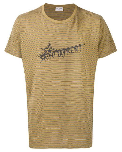 メンズ Saint Laurent ストライプ Tシャツ Multicolor