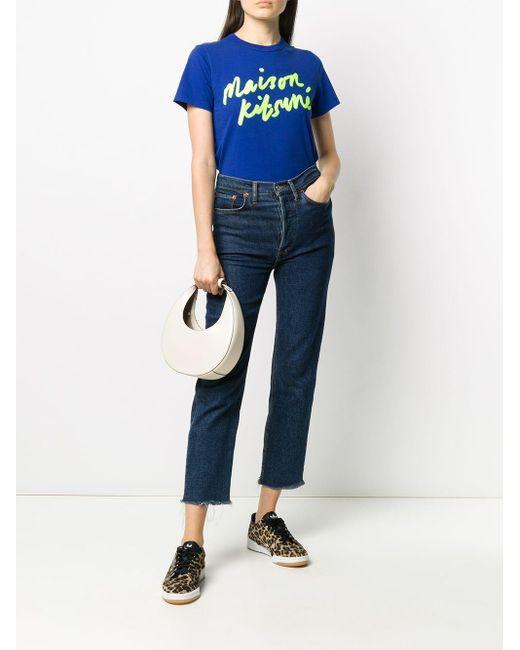 Maison Kitsuné ロゴ Tシャツ Blue