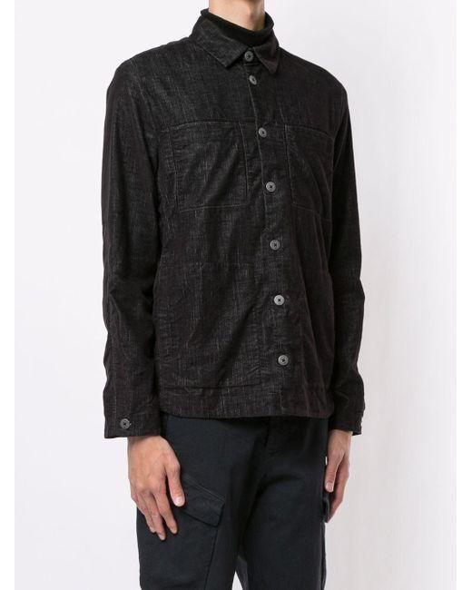 Transit Hemdjacke mit aufgesetzten Taschen in Black für Herren