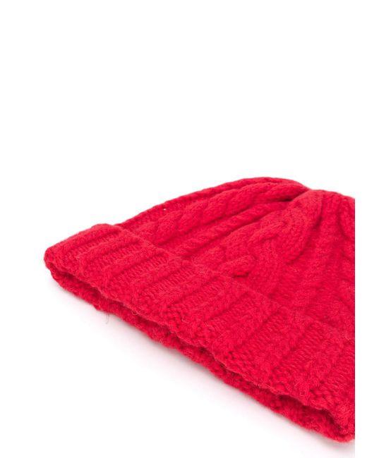 Gorro de punto de ochos AMI de color Red