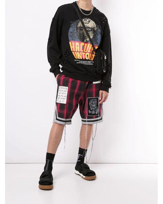 メンズ Haculla グラフィック スウェットシャツ Black