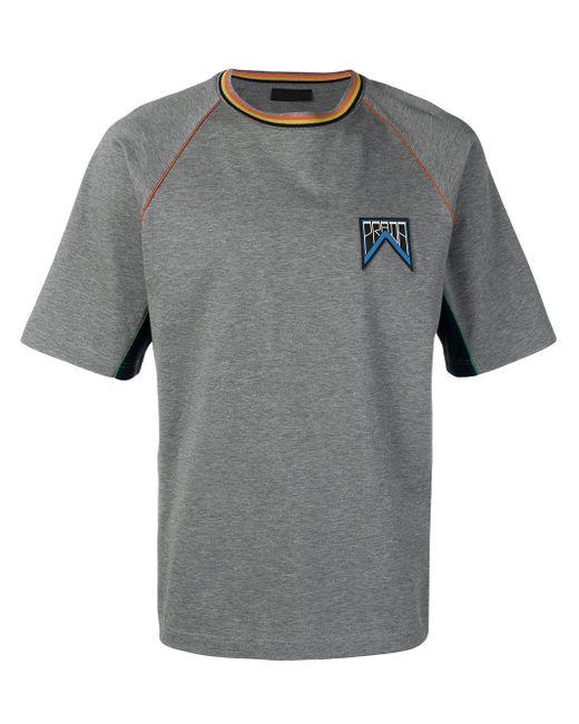 メンズ Prada ロゴ Tシャツ Gray