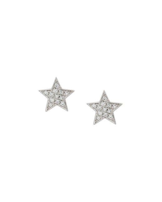 Dana Rebecca Julianne Himiko Star ダイヤモンド ピアス 14kホワイトゴールド Metallic