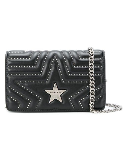 Stella McCartney Black Star Quilted Shoulder Bag