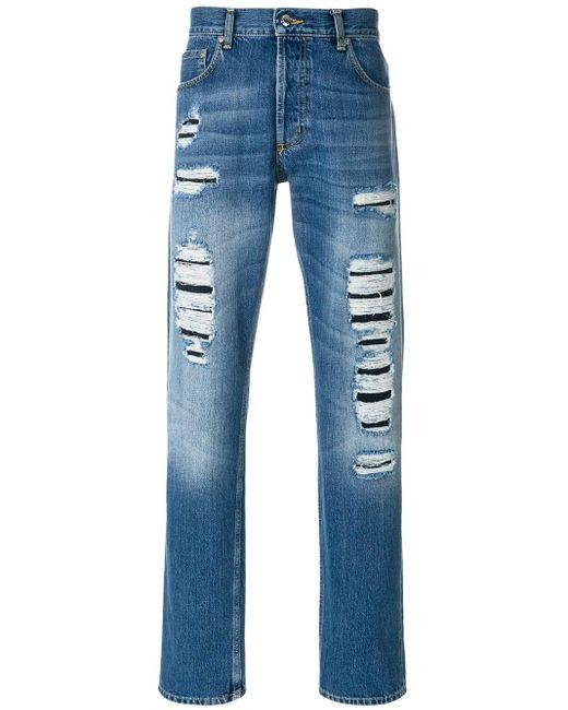 Jeans con strappi di Alexander McQueen in Blue da Uomo