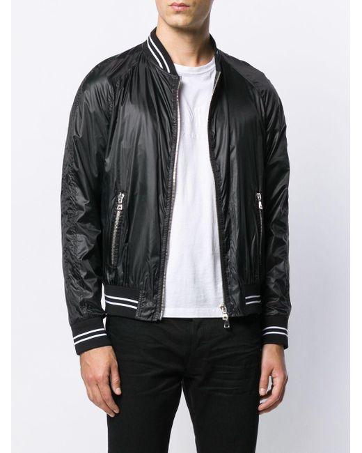 メンズ Balmain ボンバージャケット Black