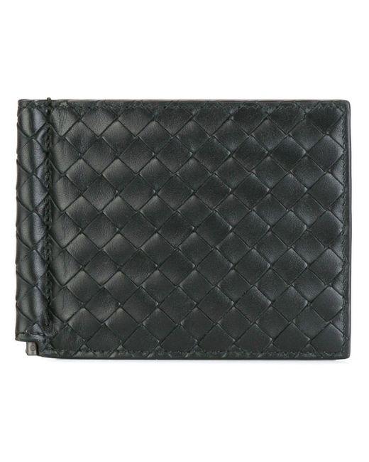 メンズ Bottega Veneta クラシック 二つ折り財布 Black