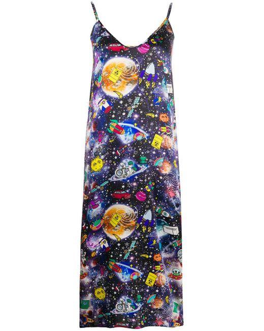 Ultrachic サイドスリット ドレス Blue
