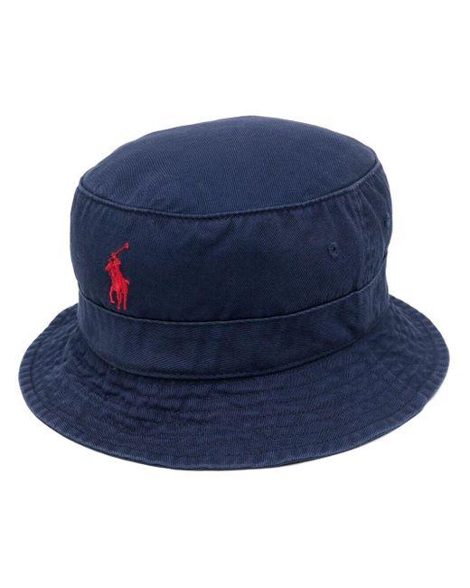 メンズ Polo Ralph Lauren Polo Bear バケットハット Blue