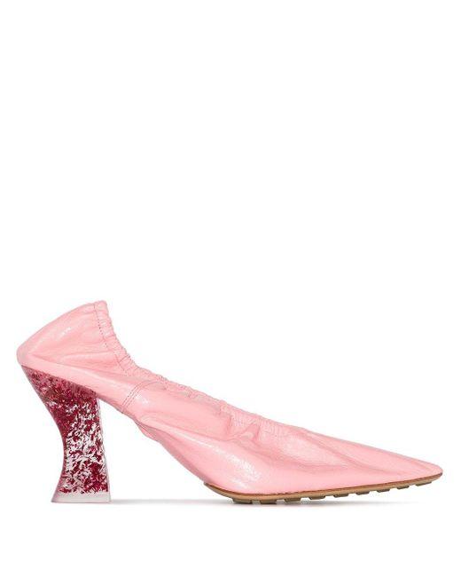 Bottega Veneta Pink Pumps mit transparentem Absatz 75mm