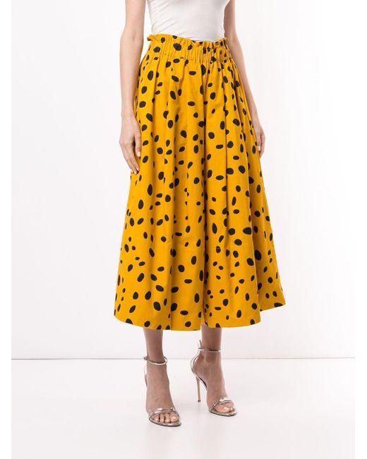 Romance Was Born Cheetah Minx ワイドパンツ Yellow