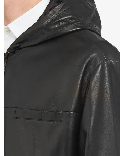 Prada Wendbare Jacke aus Nappa in Black für Herren