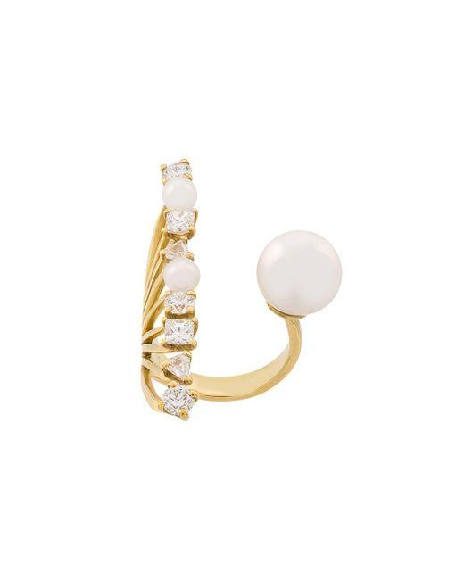 Ileana Makri - Metallic 18kt Yellow Gold Diamond Reef Ring - Lyst