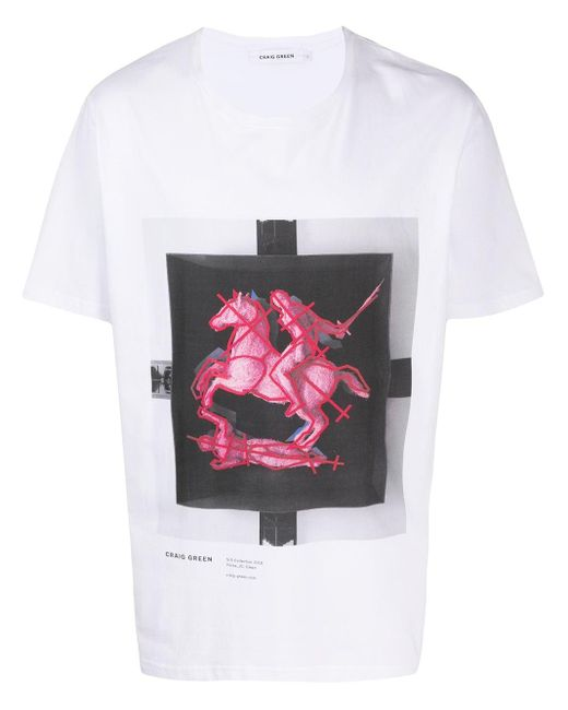 メンズ Craig Green グラフィック Tシャツ Multicolor