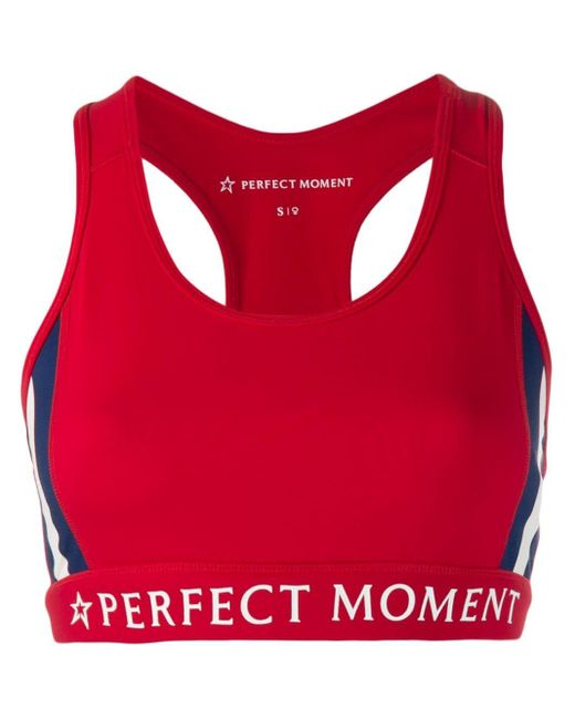 Perfect Moment レーサーバック スポーツブラ Red