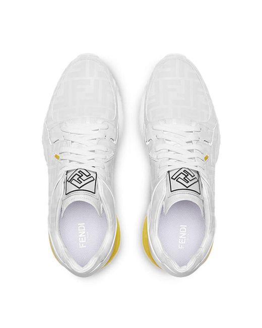 メンズ Fendi ホワイト フォトセンシティブ Forever スニーカー White
