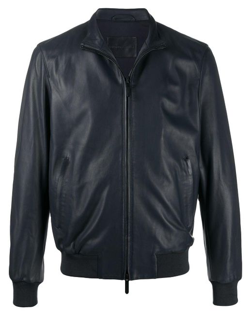 メンズ Emporio Armani ボンバージャケット Blue