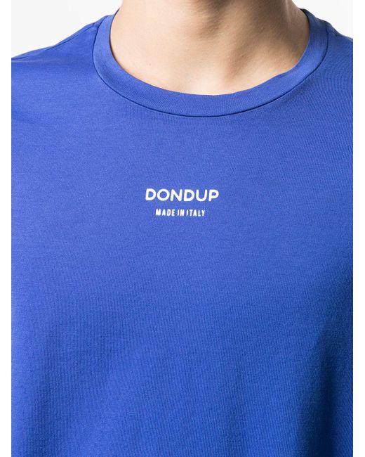 メンズ Dondup ロゴ Tシャツ Blue