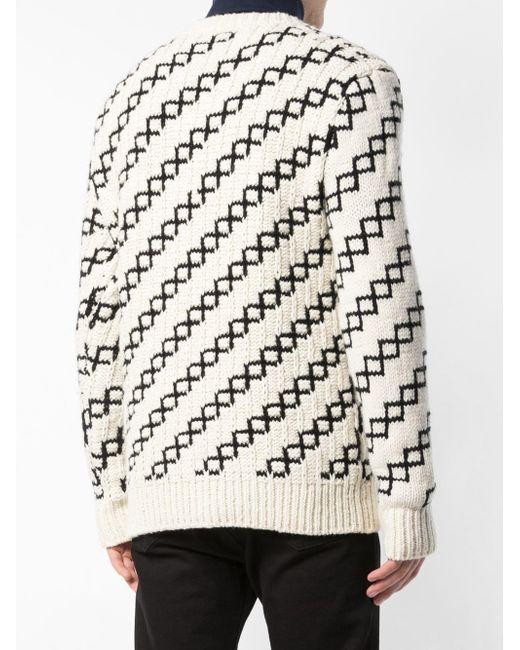 CALVIN KLEIN 205W39NYC Lockerer 'Yale' Pullover in White für Herren