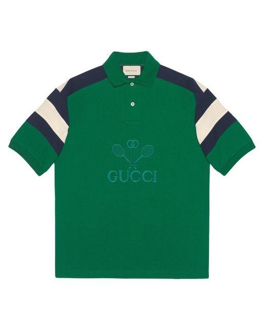 メンズ Gucci オーバーサイズ ポロシャツ Green