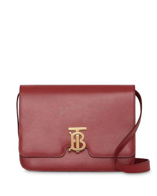 Burberry Tb レザーバッグ M Red