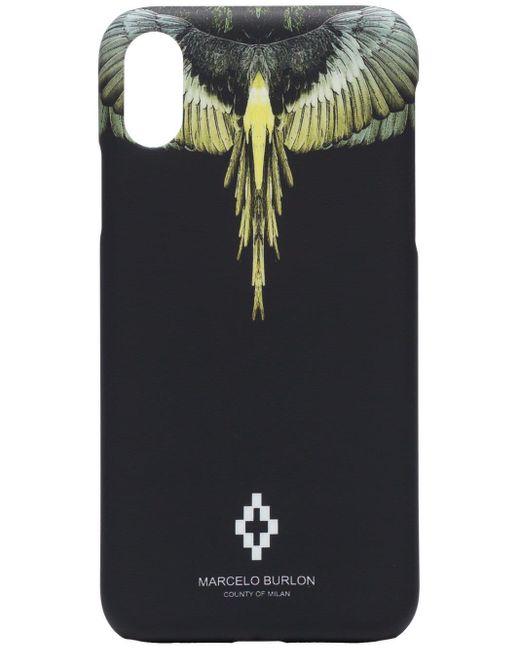メンズ Marcelo Burlon Wings Iphone X ケース Multicolor