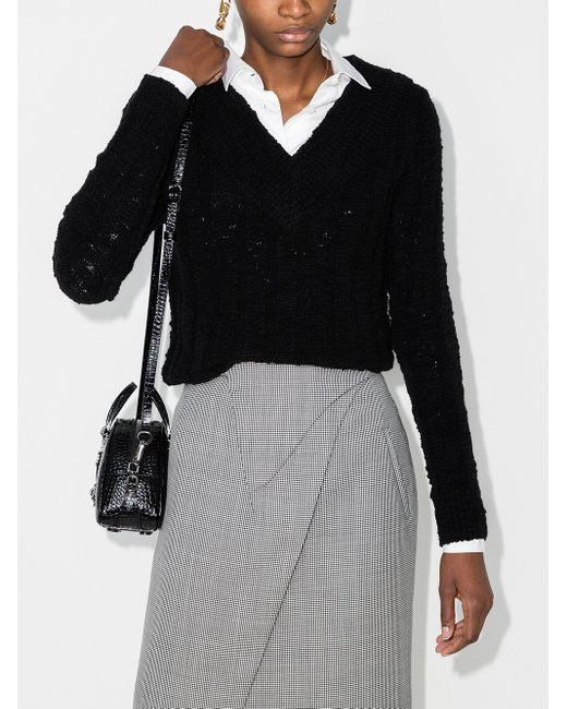 Свитер С V-образным Вырезом Dolce & Gabbana, цвет: Black