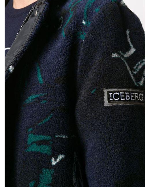 メンズ Iceberg フーデッド コート Blue