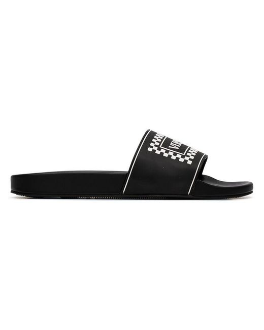 b573e3cd185 Lyst - Chanclas con logo Versace de hombre de color Negro - 5 % de ...