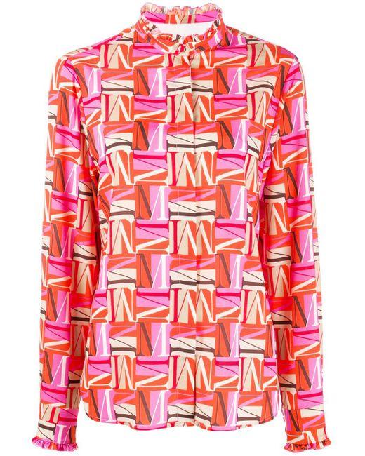 MSGM M プリント シャツ Pink