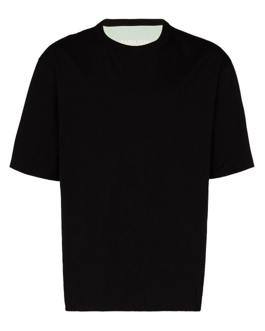 Camiseta reversible de manga corta Ambush de hombre de color Black