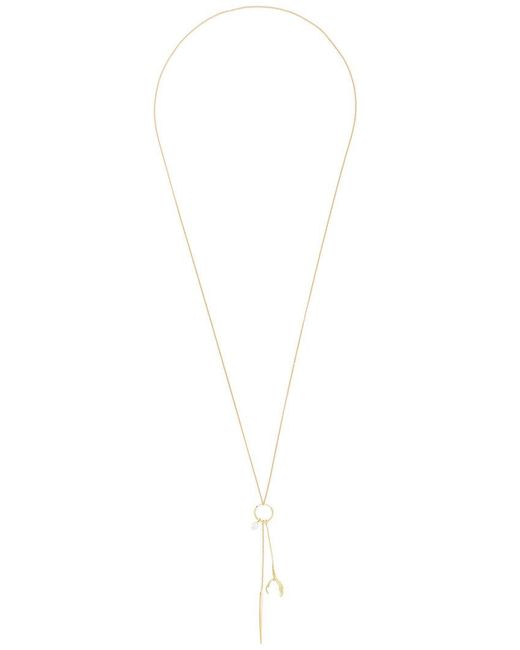 Wouters & Hendrix | Metallic 'spikes, Pearls And Claws' Long Necklace/earring | Lyst