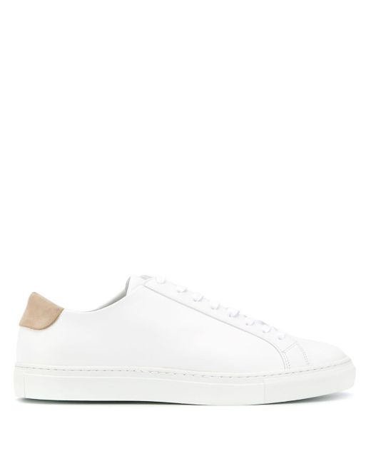 Filippa K White Morgan Lace-up Sneakers for men