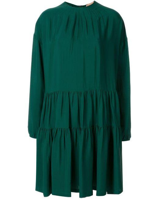 N°21 ジップ フレアドレス Green