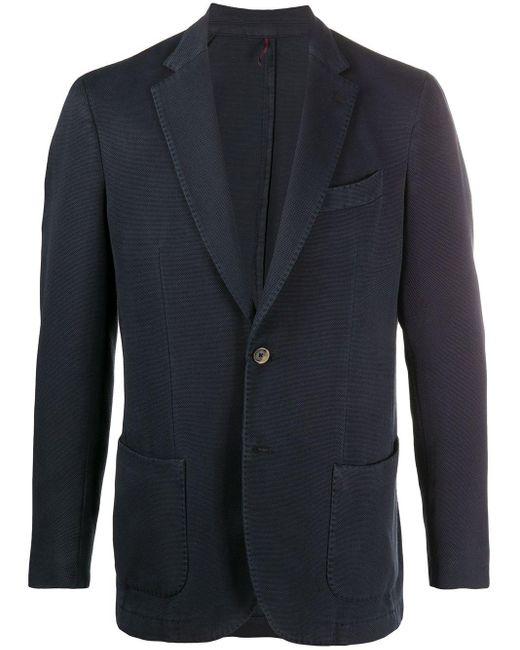 メンズ Dell'Oglio シングルジャケット Blue