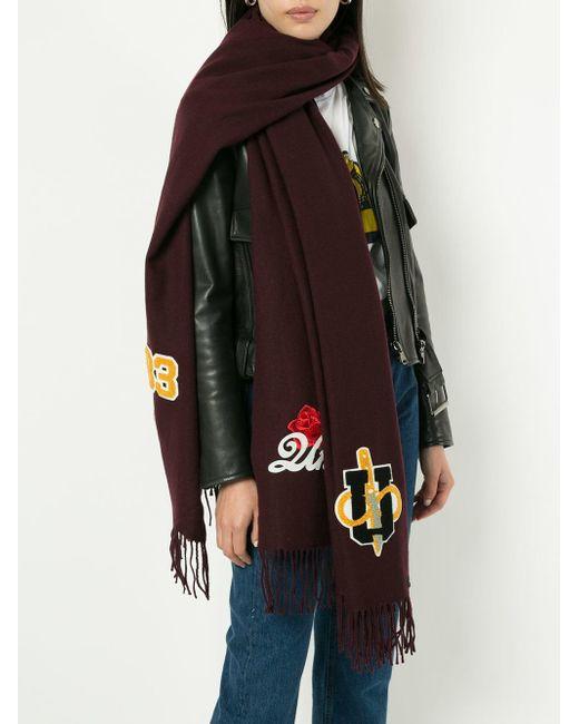 Undercover パッチワーク スカーフ Red