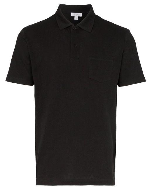 メンズ Sunspel Riviera ポロシャツ Black