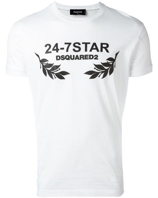 DSquared² - White 24-7 Star T-shirt for Men - Lyst