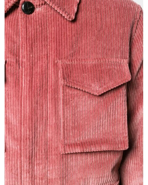 メンズ AMI ムートン サファリジャケット Pink