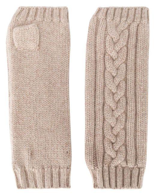 Перчатки-митенки Фактурной Вязки Pringle of Scotland, цвет: Natural