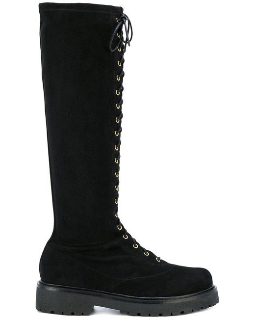 Twin Set | Black Lace Up Boots | Lyst