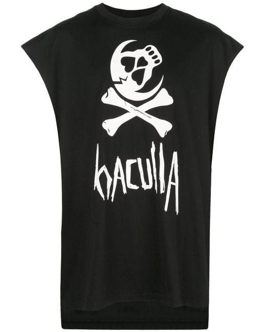 メンズ Haculla スカル Tシャツ Black