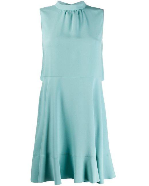RED Valentino リボン ノースリーブ ドレス Blue