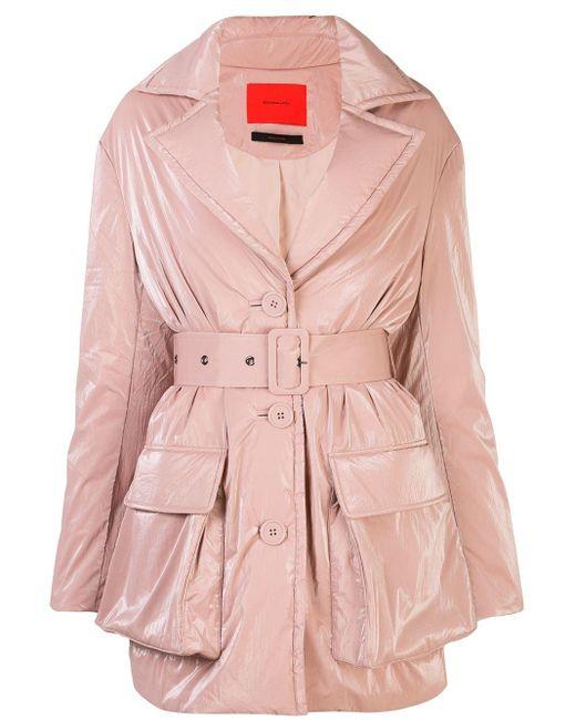 Eckhaus Latta ベルテッド コート Pink