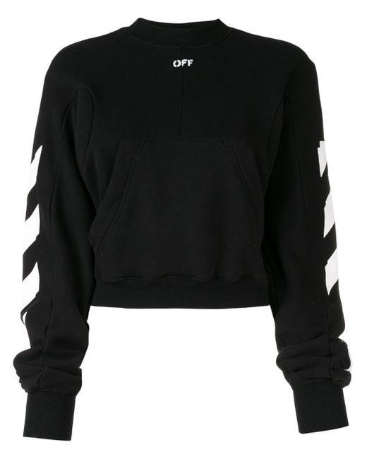 Off-White c/o Virgil Abloh - Black Diagonal Print Sweatshirt - Lyst