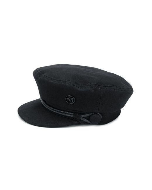 Однотонная Фуражка Maison Michel, цвет: Black