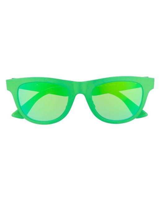 Bottega Veneta ラウンドフレーム サングラス Green
