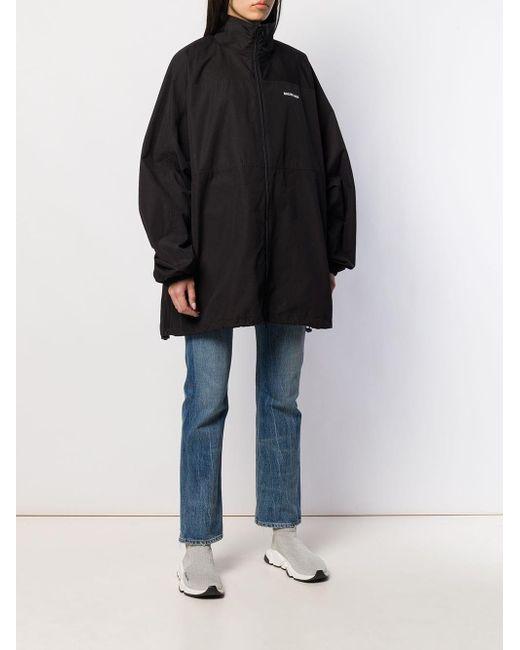 Veste Zippée À Logo Imprimé Balenciaga en coloris Black