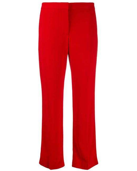 Укороченные Брюки Строгого Кроя Alexander McQueen, цвет: Red