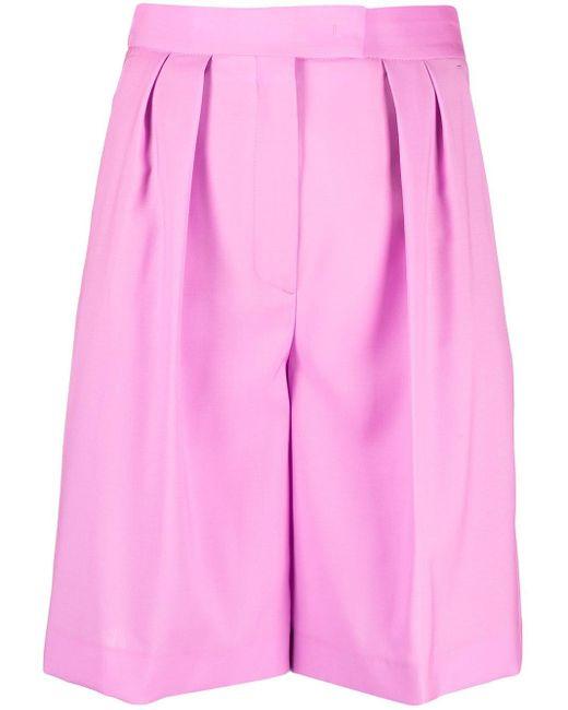 Shorts con chiusura nascosta di MSGM in Pink